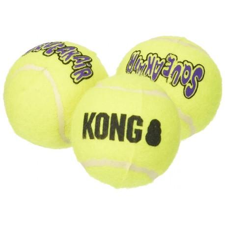 Kong Air Dog Squeakair Balls medio AST2 Gioco tre Palle per Cani