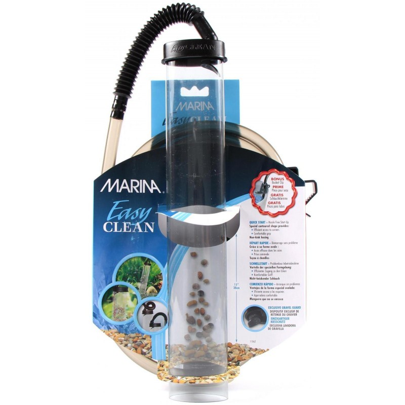 Askoll marina easy clean 38 sifone per acquario for Pulizia fondo laghetto
