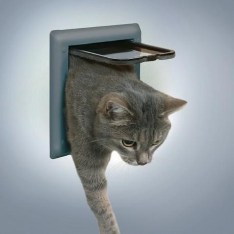 Trixie Freecat Classic Grigia Porta Basculante per gatto a 2 funzioni cod. 38602