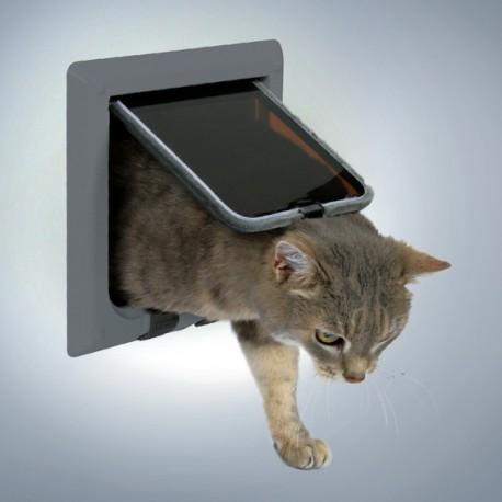 Trixie Freecat Classic Grigia Porta Basculante per Gatto a 4 Funzioni Cod.38622