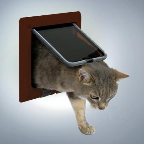 Trixie Freecat Classic Marrone Porta Basculante per Gatto a 4 Funzioni Cod.38623