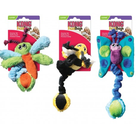 Kong Kitty Fuzz Bugs Assortiti CF4 Gioco con Erba gatta