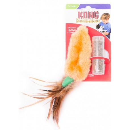 Kong Refillables Feather Top Carrot NH4 Gioco Carota e Catnip
