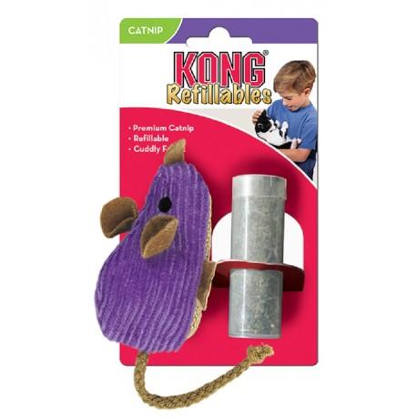 Kong Refillables Corduroy Mouse NM43 Gioco Topo e Catnip