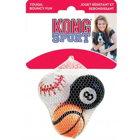 Kong Sport Balls Small ABS3 Gioco tre Palle per Cani