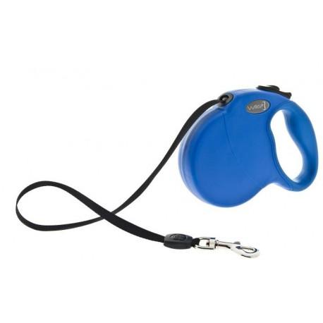 Wrap Guinzaglio Avvolgibile Blu Taglia M per Cane fino ai 20 Kg
