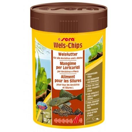 Sera Wels Chips 100ml 38 gr per Pesci Pulitori Acquario