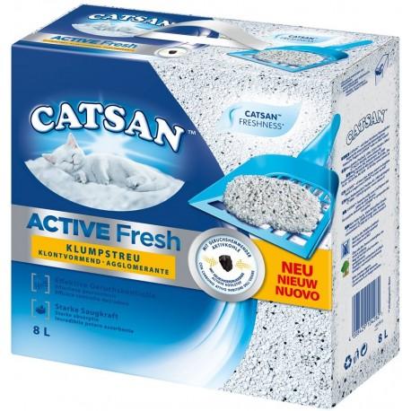 Catsan Active Fresh 8 L Lettiera Agglomerante per Gatti