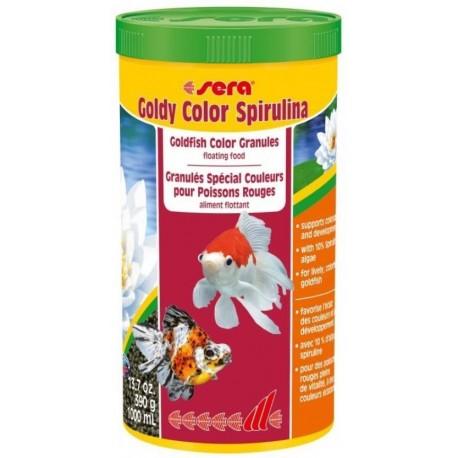 Sera Goldy Color Spirulina 1000 ml 390 gr Mangime granuli per Pesci Rossi