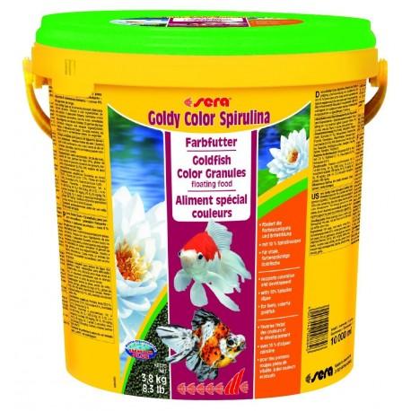 Sera Goldy Color Spirulina 10 LT - 3,8Kg Mangime granuli per Pesci Rossi