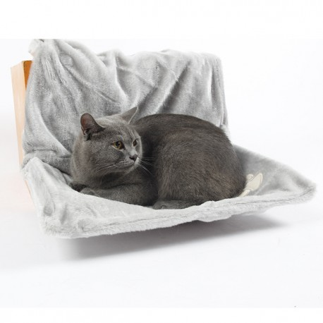 Leopet Amaca per Radiatori per Gatti colore Grigio 46 x 30 x 25h cm