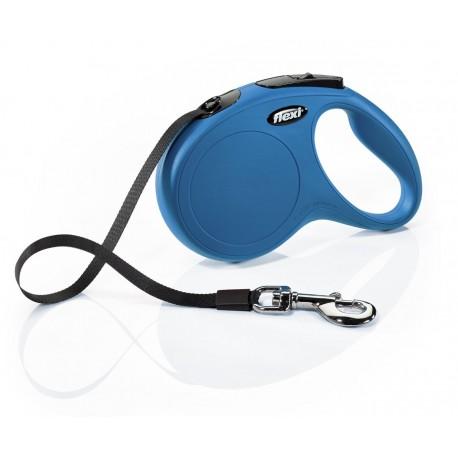 Flexi Guinzaglio Allungabile Blu Small con Fettuccia per Cane fino a 15 Kg