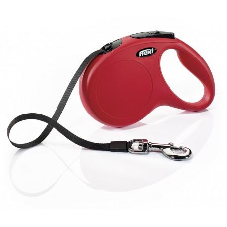 Flexi Guinzaglio Allungabile Rosso Small con Fettuccia per Cane fino a 15 Kg