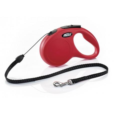 Flexi Guinzaglio con Corda Avvolgibile S Rosso per Cane fino a 12 Kg