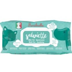Ferribiella 40 Maxi Salviette Disinfettanti alla Clorexidina per Cane e Gatto