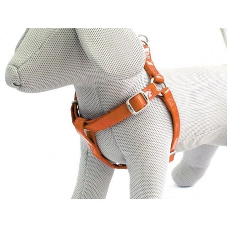 Pettorina similpelle Arancio per cane 20mm