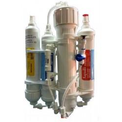 Aquili Impianto Osmosi 4 elementi con Flushing Valve pulizia membrana acquario