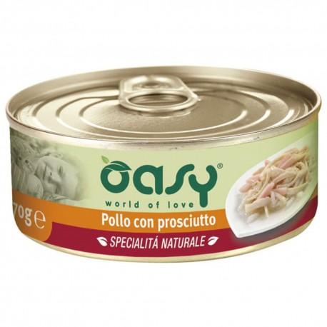 Oasy Wet Cat Specialità al Naturale Pollo con Prosciutto 150 gr