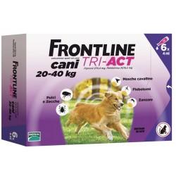 Frontline Tri Act 20-40 Kg Antiparassitario per Cani 6 fiale