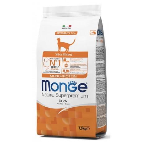 Monge Gatto Sterilizzato Monoproteico con Anatra 1,5 Kg