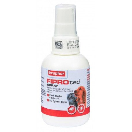 Beaphar Fiprotec Spray 100 ml Antiparassitario per Cani e Gatti