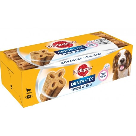 Pedigree Dentastix Medium 10-25 kg 2 volte a settimana per Cane