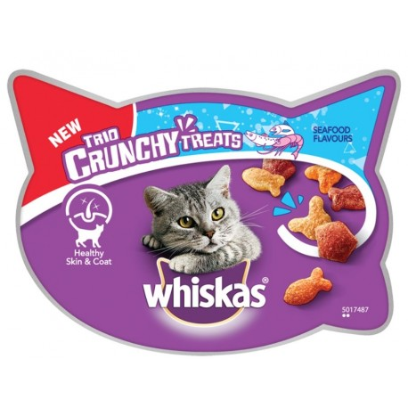Whiskas Trio Crunchy al gusto Mare Snack per Gatto 55 gr
