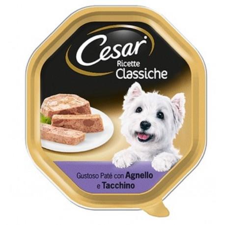 Cesar Ricette Classiche Patè con Agnello e Tacchino Cibo per Cane