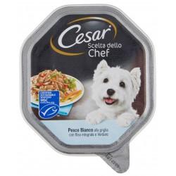 Cesar Scelta dello Chef Pesce Bianco alla Griglia con Riso Integrale Cibo per Cane