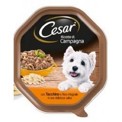 Cesar Ricette di Campagna con Tacchino e Riso in salsa Cibo per Cane