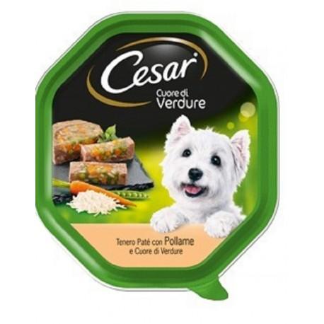Cesar Cuore di Verdure Patè con Pollame e Verdure Cibo per Cane