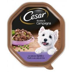 Cesar Ricette di Campagna con Agnello e Piselli in Salsa di Erbe Cibo per Cane