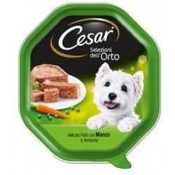 Cesar Selezioni dell' Orto Patè con Manzo e Verdure Cibo per Cane