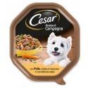 Cesar Ricette di Campagna con Pollo e Misto di Verdurine in Salsa Cibo per Cane