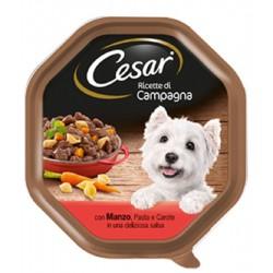 Cesar Ricette di Campagna con Manzo Pasta e Carote in salsa Cibo per Cane