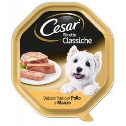 Cesar Ricette Classiche Patè con Pollo e Manzo Cibo per Cane