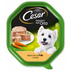 Cesar Selezioni dell' Orto Patè con Pollo e Carotine Cibo per Cane