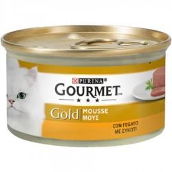 Gourmet Gold Mousse con Fegato 85 gr Scatoletta per Gatti