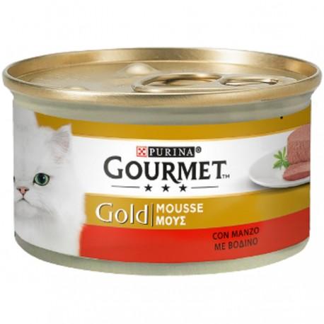 Gourmet Gold Mousse con Manzo 85 gr Cibo Umido per Gatto