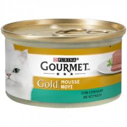 Gourmet Gold Mousse con Coniglio 85 gr Cibo per Gatti
