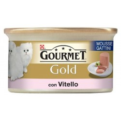 Gourmet Gold Mousse con Vitello 85 gr per Gattini Alimento Umido