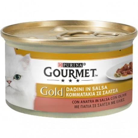 Gourmet Gold Dadini con Anatra e Olive Cibo per Gatti
