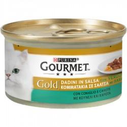 Gourmet Gold Dadini con Coniglio e Carote Cibo per Gatti