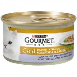 Gourmet Gold Dadini con Vitello e Verdure Cibo per Gatti