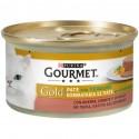 Gourmet Gold Patè con Verdure con Anatra Carote e Spinaci per Gatti
