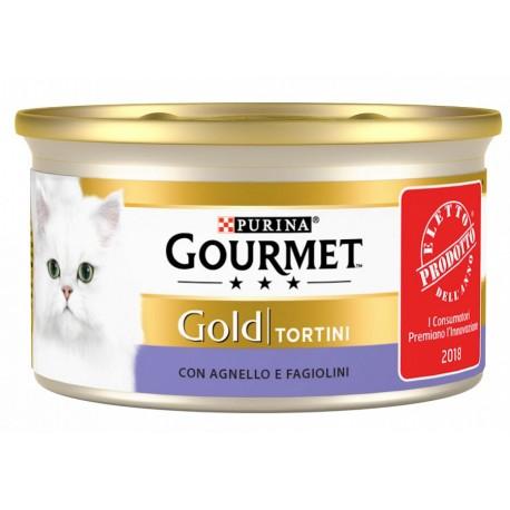 Gourmet Gold Tortini con Agnello e Fagiolini Cibo Umido per Gatti