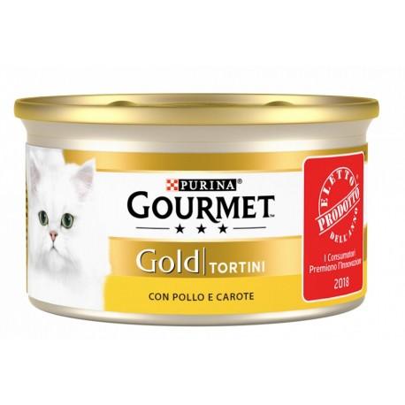 Gourmet Gold Tortini con Pollo e Carote Cibo Umido per Gatti
