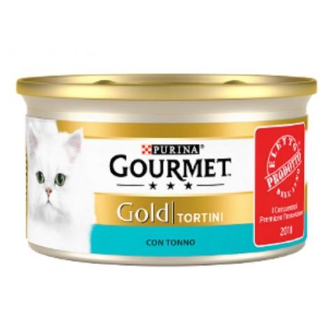 Gourmet Gold Tortini con Tonno Cibo Umido per Gatti