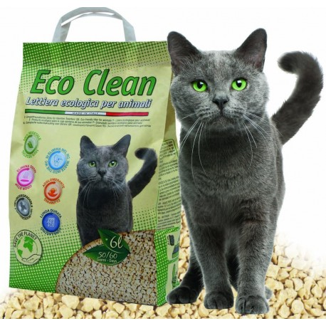 Croci Eco Clean 6 litri Lettiera Naturale Biodegradabile per Gatti