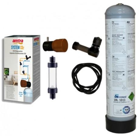 Amtra System CO2 Impianto Completo di Anidride Carbonica per Acquario